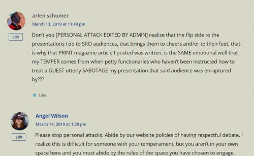 Arlen Schumer attacking journalists