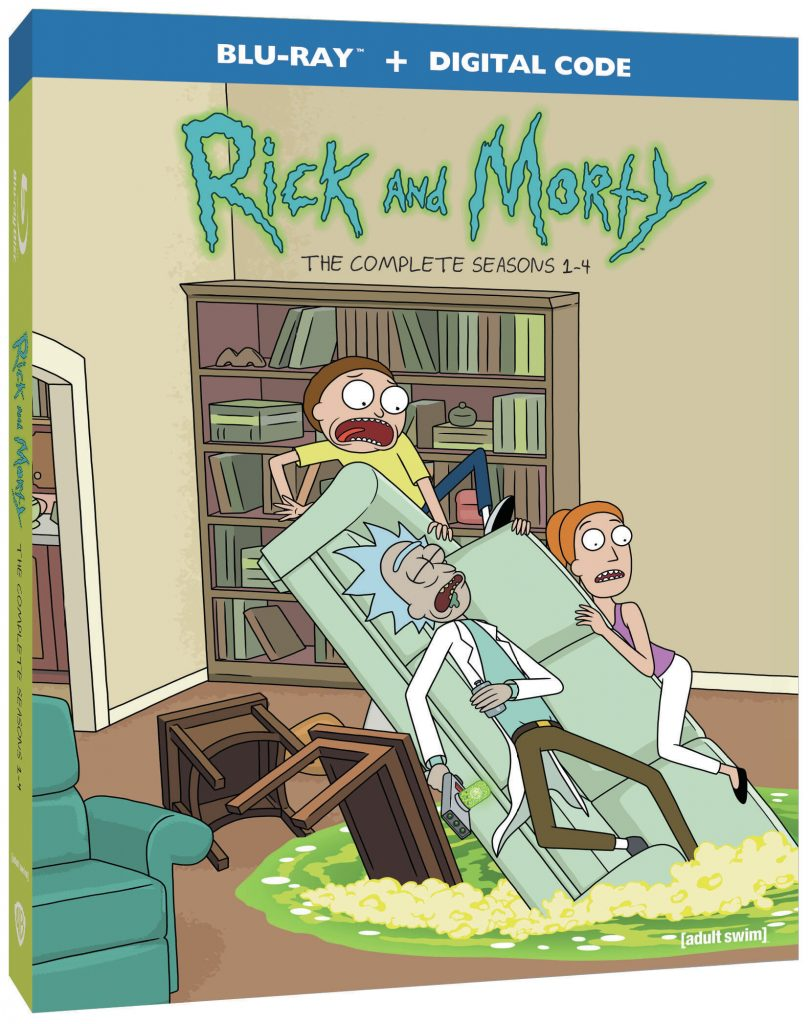 Rick and Morty Season 1 to 4 DVD Blu-ray set