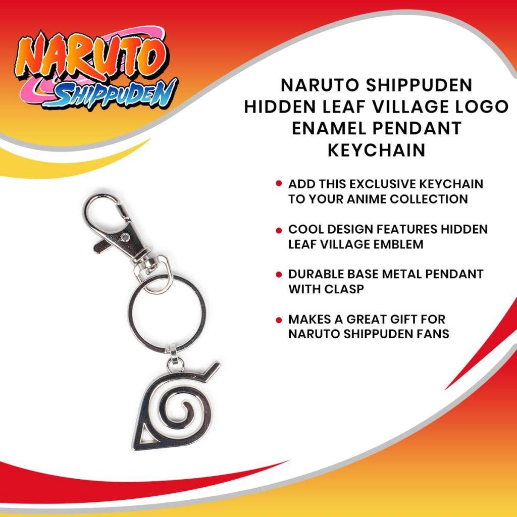 Naruto Shippuden Hidden Leaf Village Logo Enamel Pendant Keychain